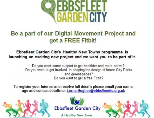 Get fit and a free Fitbit in Ebbsfleet Garden City project
