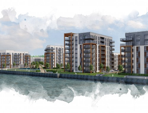 New riverfront development with 600 homes and primary school approved for Ebbsfleet Garden City
