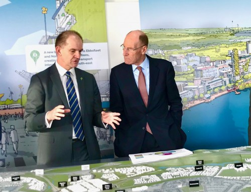 Sir John visits Ebbsfleet Garden City