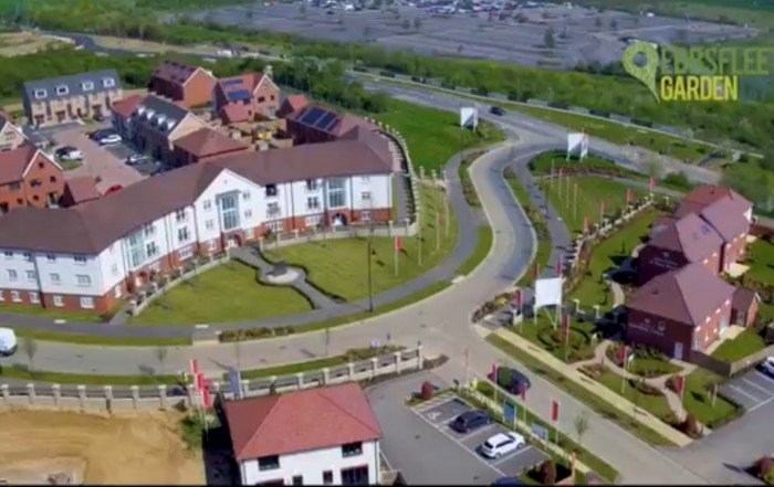 See Ebbsfleet Garden City from the air like never before