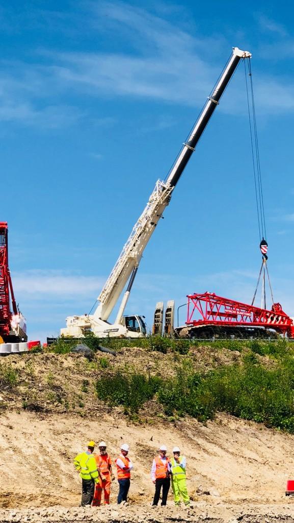 Work under way on new bridge for Ebbsfleet Garden City