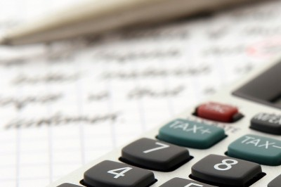 calculator on notepad