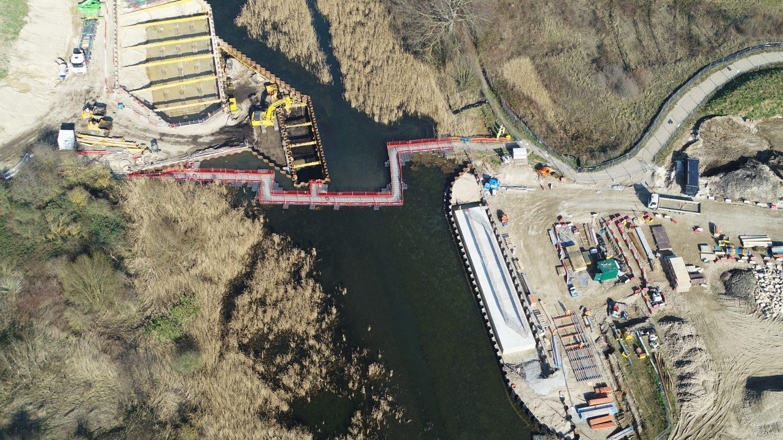 Springhead Bridge from the air