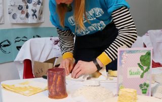 woman crafting at Ebbsfleet Community Event