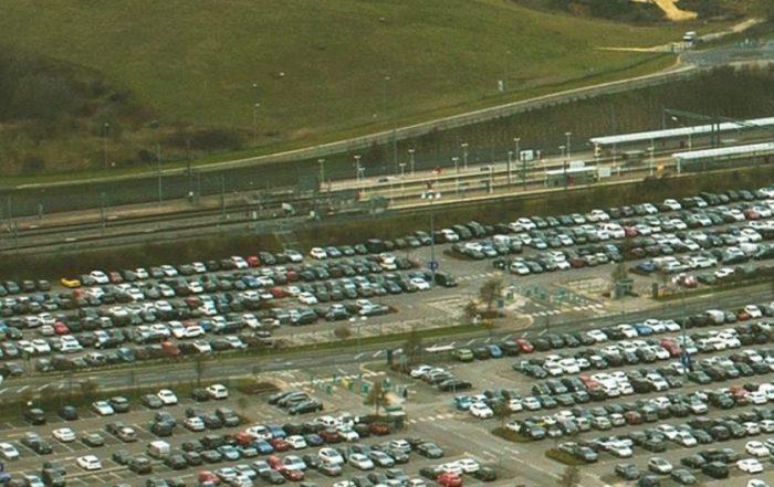 Ebbsfleet car parking cars