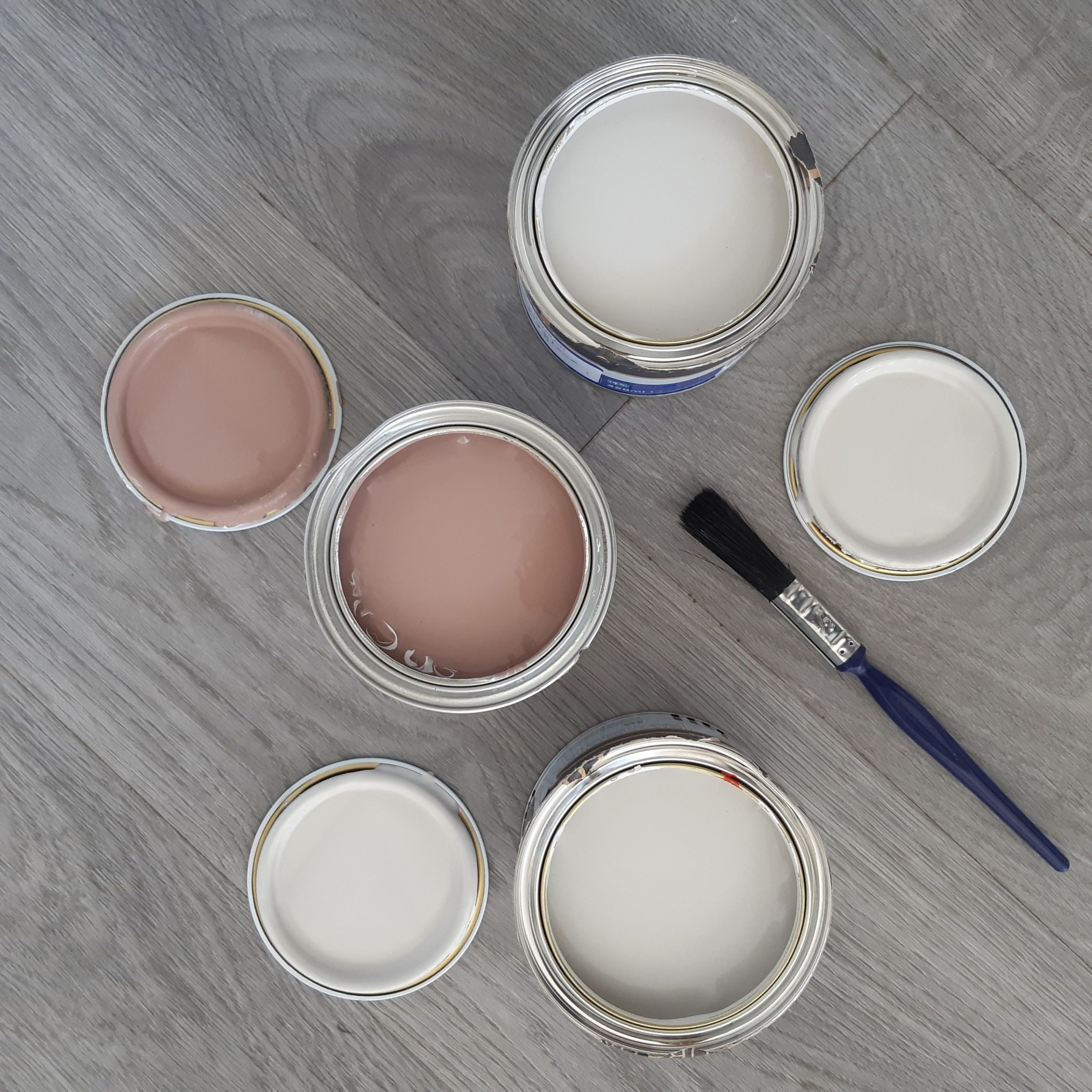 paint tins and brush