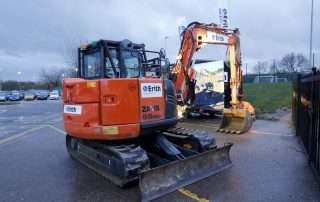Digger in carpark