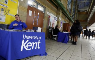 University of Kent exhibition stand at the Ebbsfleet Jobs Fair