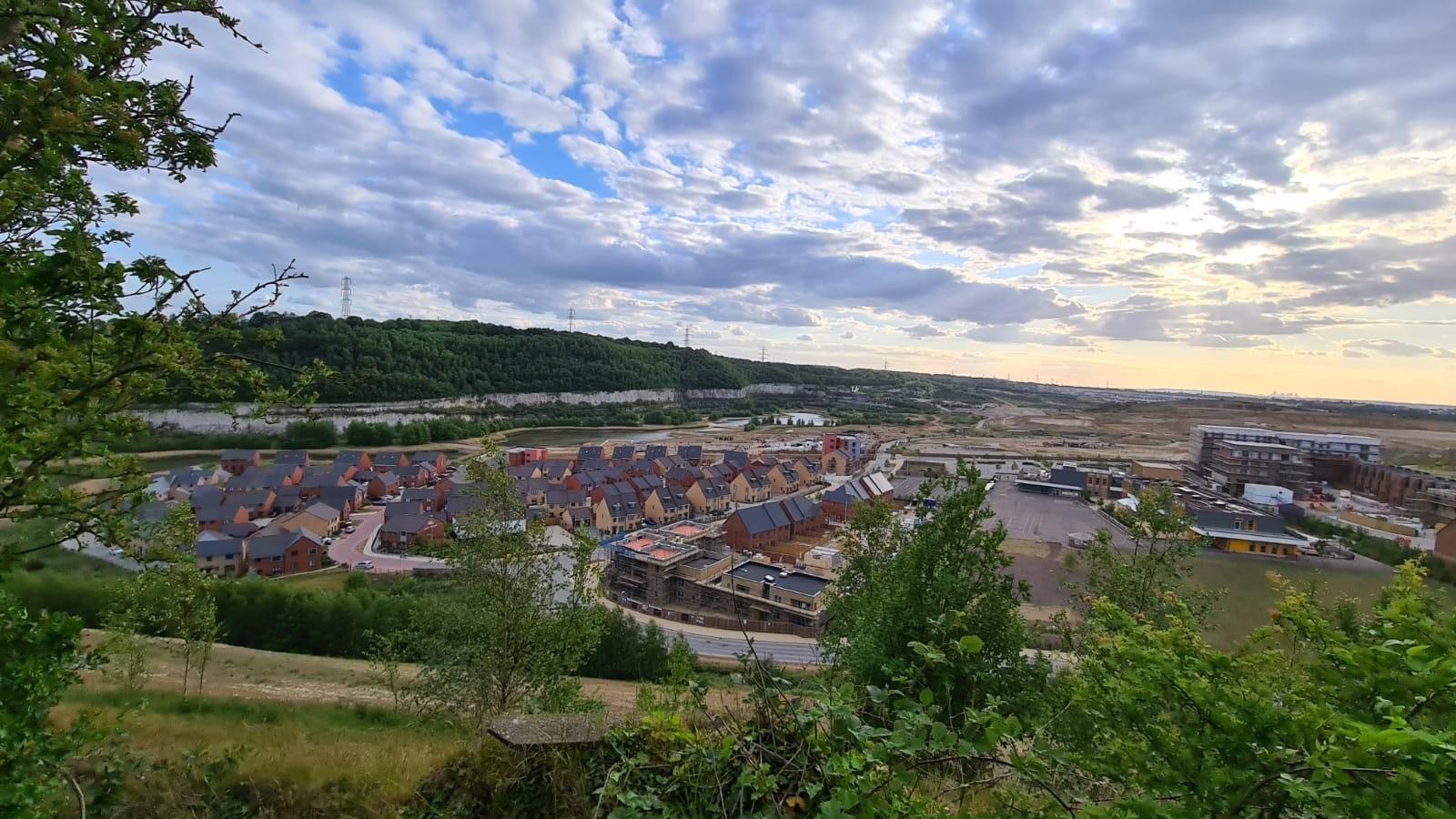 Ebbsfleet Garden City aerial shot