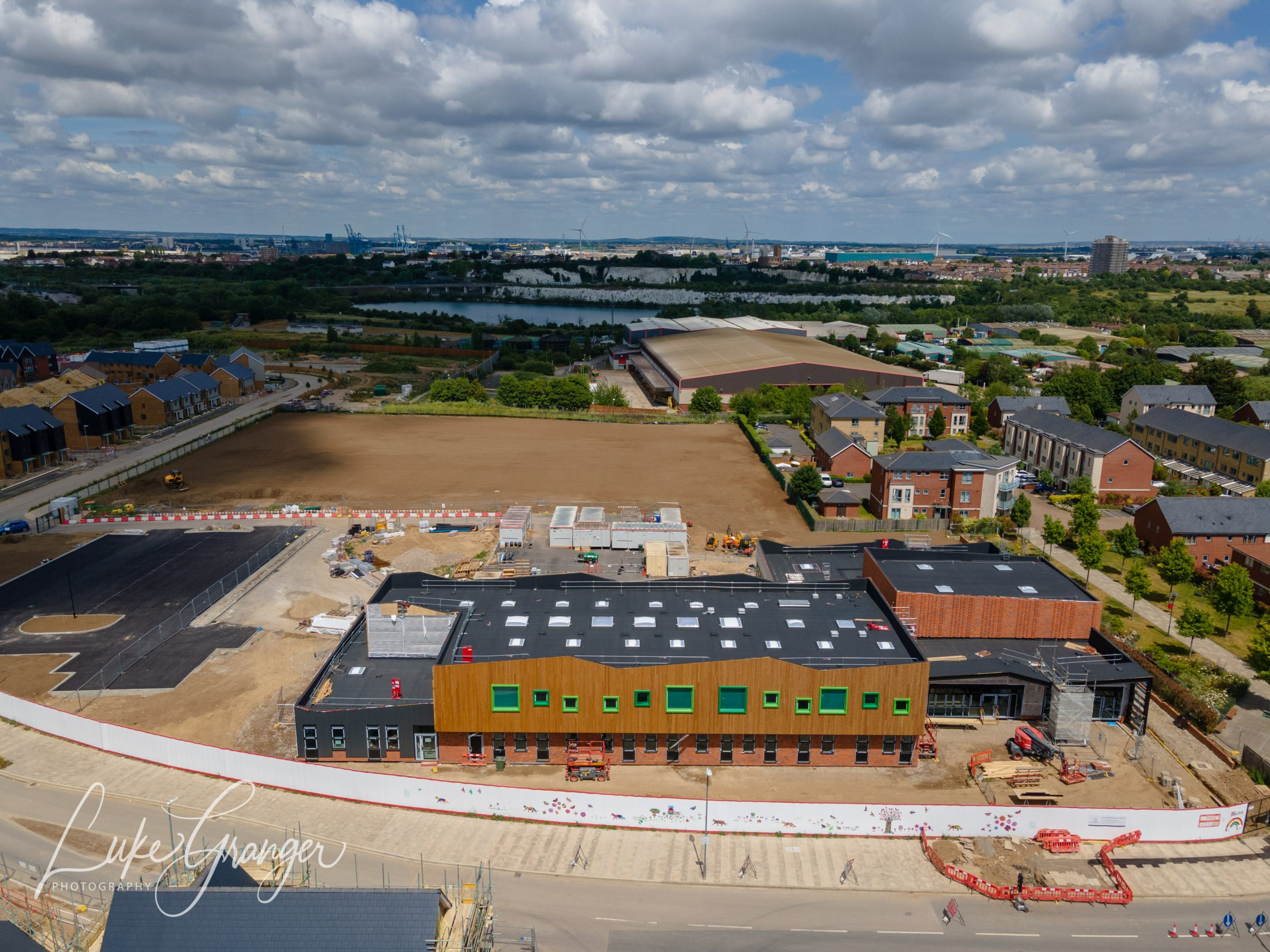 springhead-park-primary-school from a drone