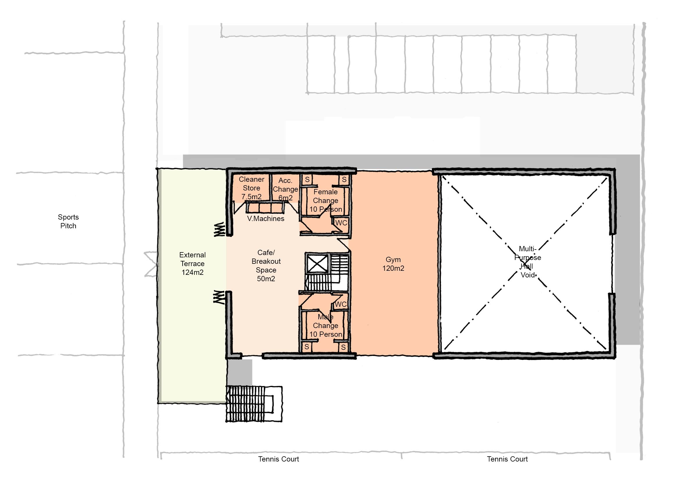 Site B - Scheme 2 Proposed 1F Plan