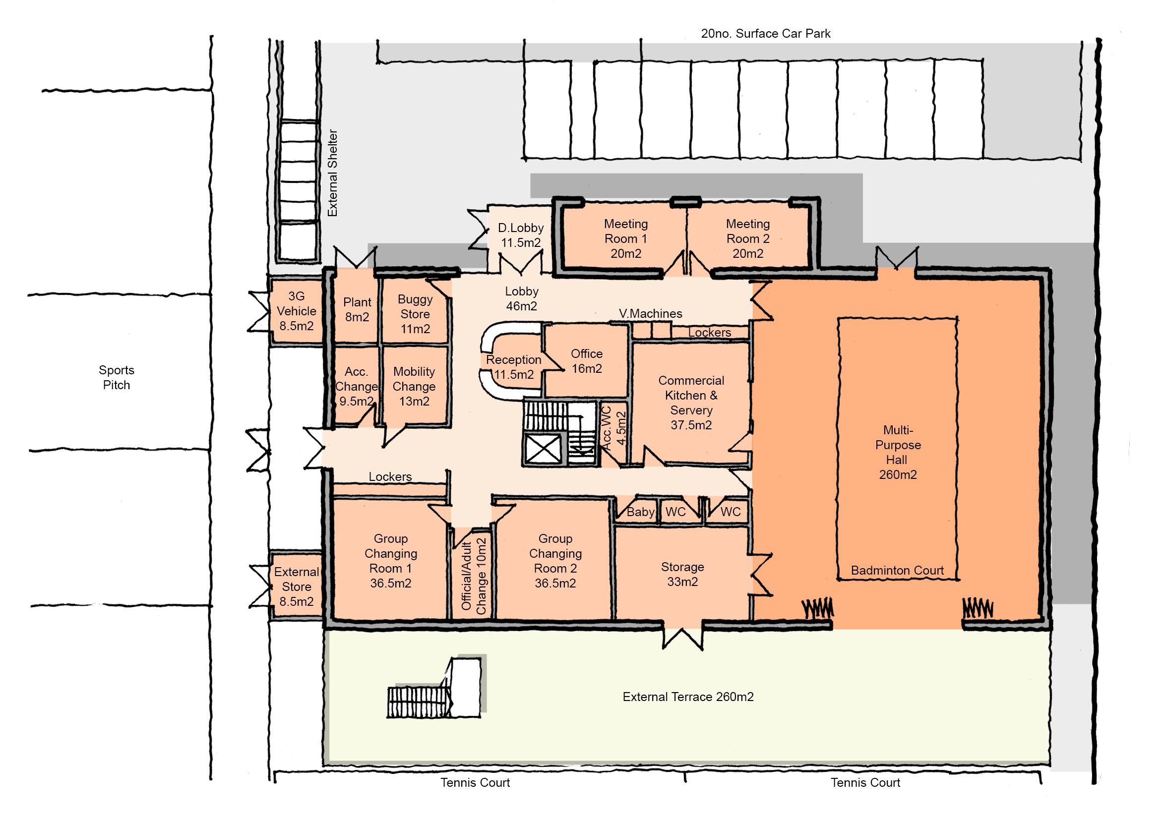Site B - Scheme 2 Proposed GF Plan