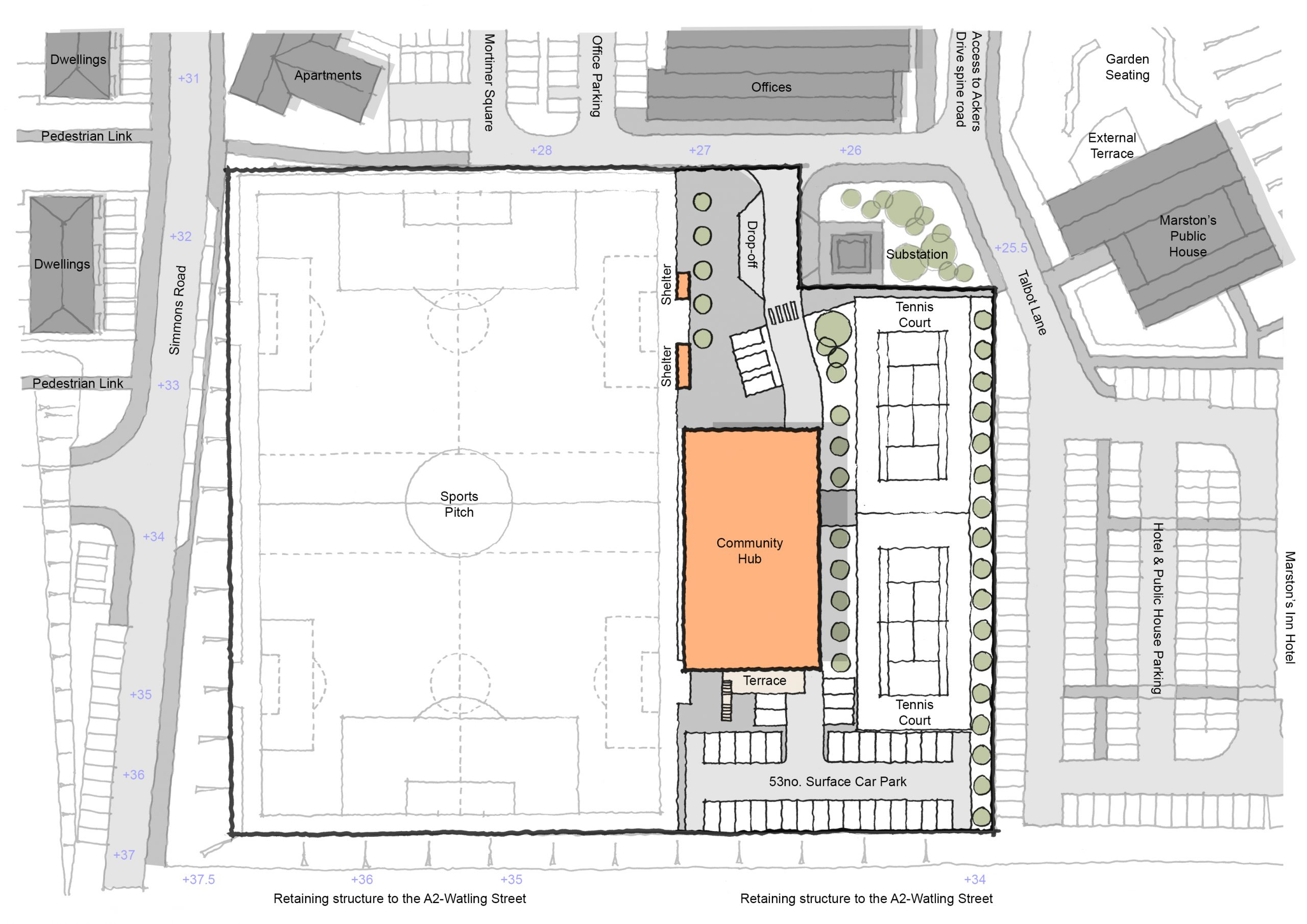Site B - Scheme 4 Proposed Site Plan