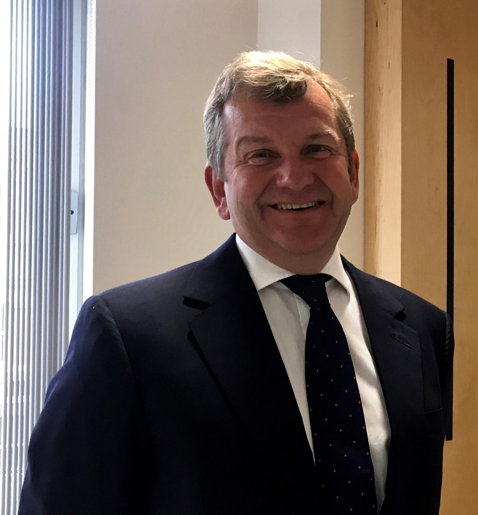 Simon Dudley in a suit