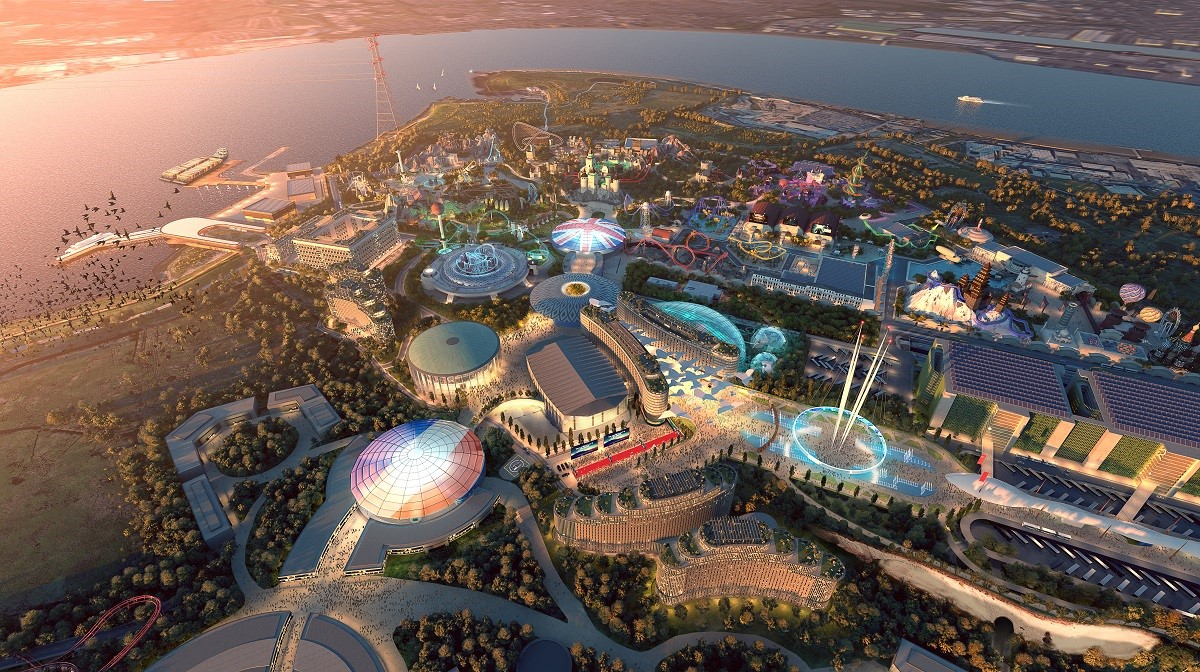 How the theme park may look