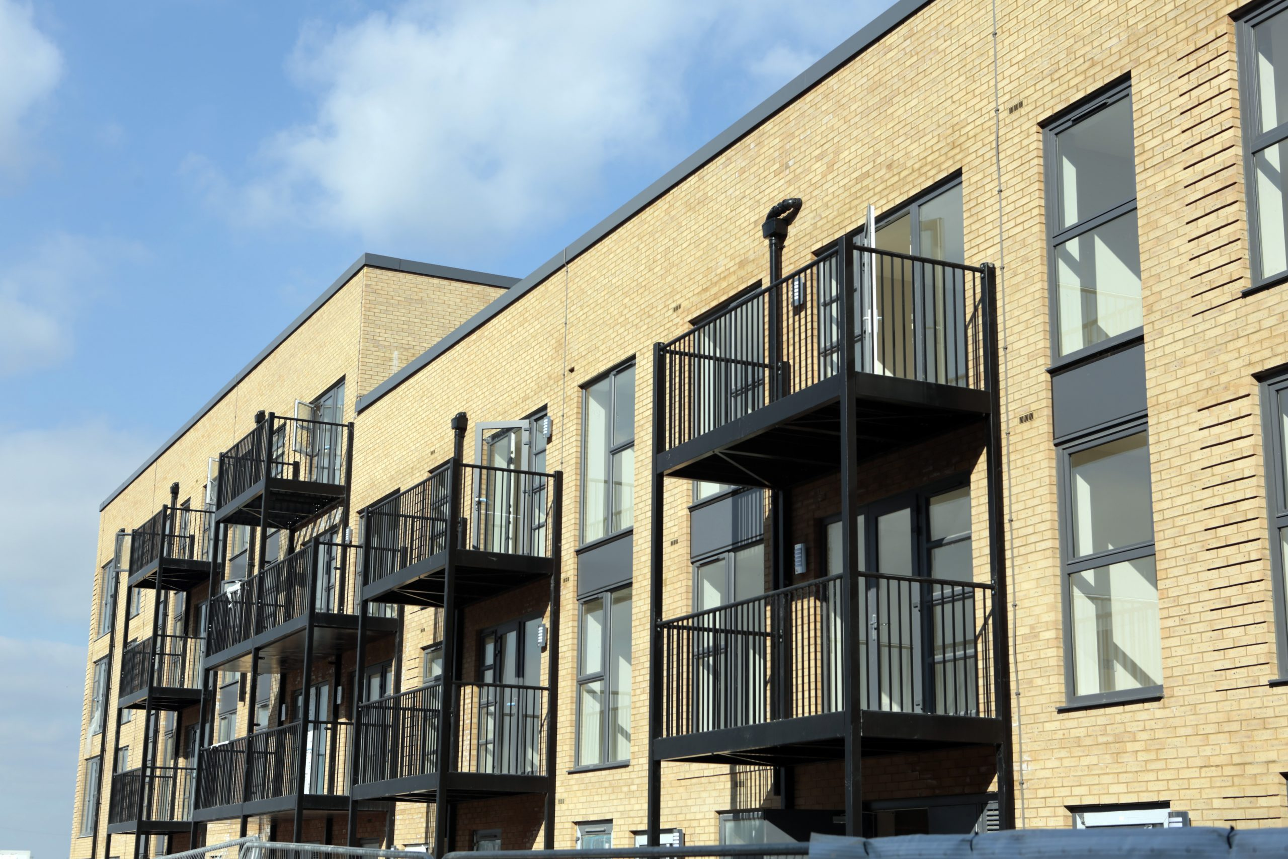 A picture of balconies