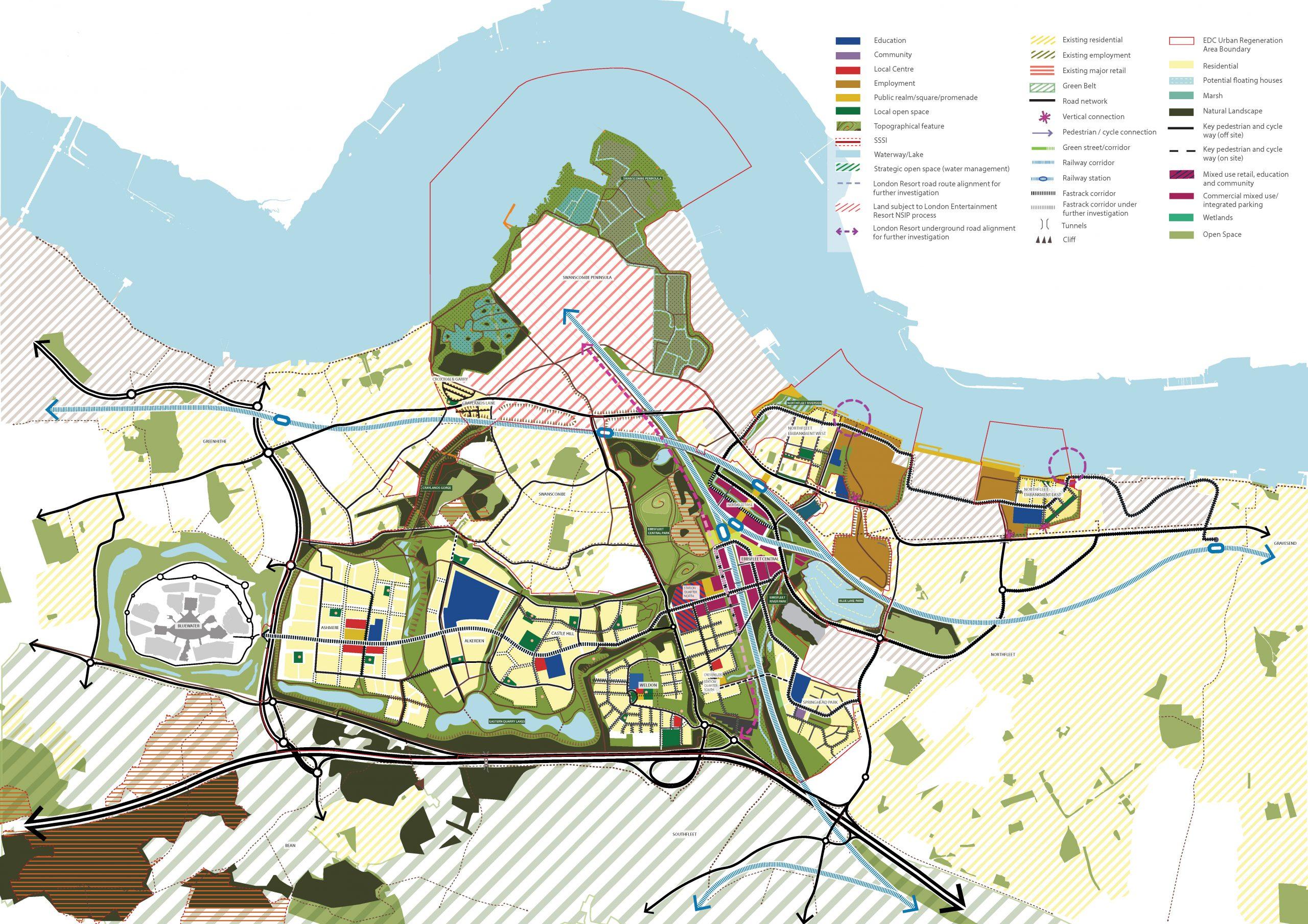 Map of Ebbsfleet Garden City